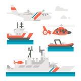 平的设计海岸警卫车 免版税库存图片
