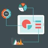 平的设计现代传染媒介例证象设置了网站SEO优化、编程的过程和网分析元素 isola 库存照片