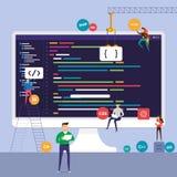 平的设计观念程序员编制程序节目 传染媒介说明 库存例证