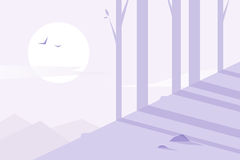 平的设计 森林 免版税库存照片