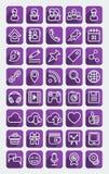 平的象社会媒介紫色集合 皇族释放例证