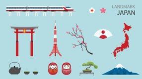 平的象设计地标日本 库存图片