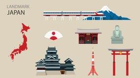 平的象设计地标日本 库存照片