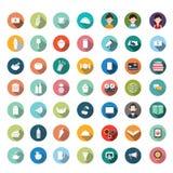 平的象设计,被设置的象, app,食物,动画片 免版税图库摄影