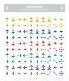 平的象-五颜六色的箭头 免版税图库摄影
