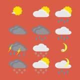 平的颜色天气象 库存图片