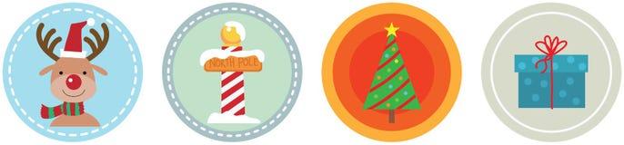 平的4个圣诞节象第4卷 免版税库存照片