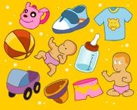 平的婴孩 免版税库存图片