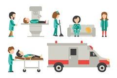 平的医护人员,隔绝在白色背景,护士,关心,人传染媒介例证,图表编辑可能医生,为 皇族释放例证