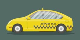 平的黄色出租汽车 免版税库存图片