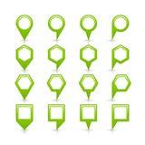 平的绿色地图别针信号点象 库存图片