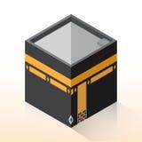 平的3D设计圣堂,等量的麦加-导航例证 免版税库存图片