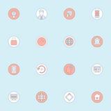 平的icon4 库存图片