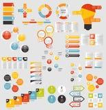 平的Infographic模板的兆收藏为 免版税库存照片