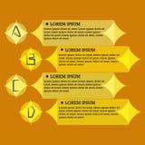平的infographic模板 图库摄影