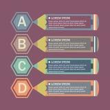 平的infographic模板 免版税图库摄影