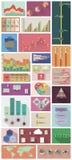 平的Infographics 库存图片