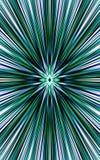 平直的条纹绿色背景从中部分流到边缘 美好的向量 图库摄影