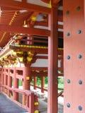 平等院寺庙,寺庙纪念公园的谷,夏威夷 图库摄影