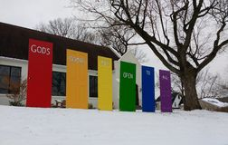 平等,上帝` s门对所有,新泽西,美国开放 免版税库存图片