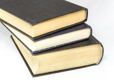 水平精装书的书- 免版税图库摄影