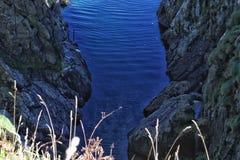 水平线岩石 库存照片