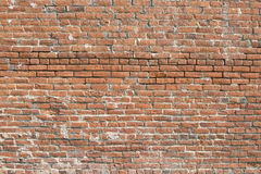 水平老的砖墙- 免版税库存图片