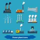 平能源厂的象 免版税图库摄影