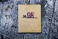 水平葡萄酒1998空白的织地不很细卡片 图库摄影