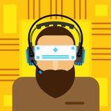 平虚拟现实的玻璃 免版税库存照片