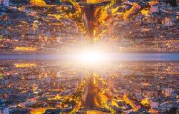 平行的宇宙风景 免版税库存照片