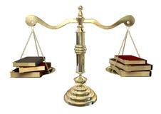 平衡书 库存例证