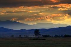 平衡农村风景的夏天 库存照片