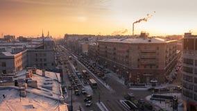 平衡圣彼德堡屋顶和大道  影视素材