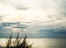 平衡多云天空树荫  图库摄影