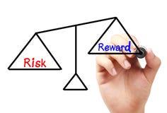 平衡奖励风险 免版税库存图片