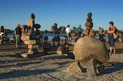 平衡岩石艺术节 免版税库存图片