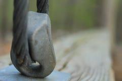 平衡木绳索片断 免版税库存图片