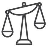 平衡标度线象 皇族释放例证