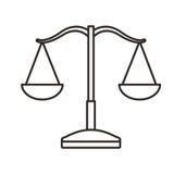 平衡标度被隔绝的象 向量例证