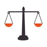 平衡标度被隔绝的象 皇族释放例证