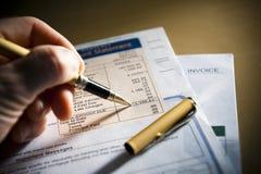 平衡检查 免版税库存照片