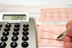 平衡检查 免版税图库摄影