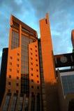 平衡现代星期日的大厦 库存照片