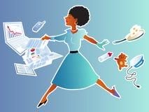 平衡的事业和家庭 库存照片