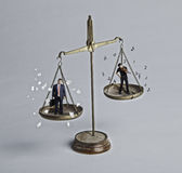 平衡的作用工作 图库摄影