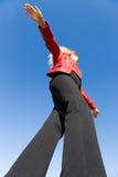 平衡的女孩 图库摄影