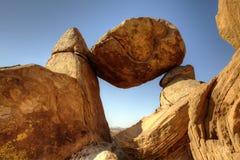 平衡的岩石大弯曲国家公园 图库摄影