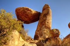 平衡的岩石大弯曲国家公园 免版税库存照片
