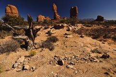 平衡的岩石 免版税库存照片